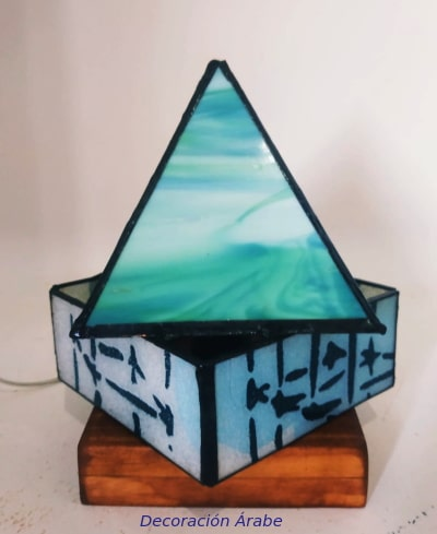 lampara cristal tifany y metal artesanal
