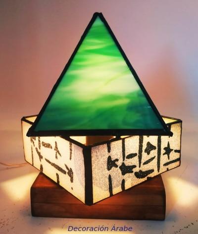 lampara tifany de mesa artesanal