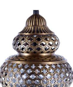 lampara turca dorada colgante