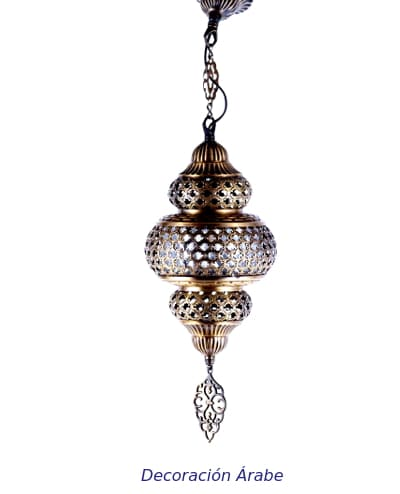 lampara turca metal colgante
