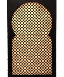 ventana de celosía madera decorativa