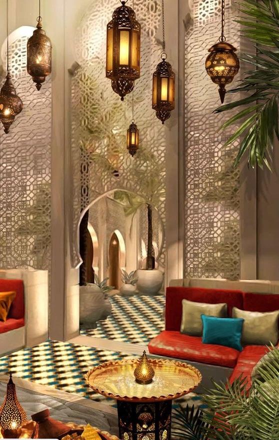decoración marroqui para el hogar