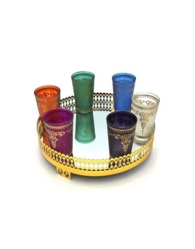 juego de vasos marroquíes para el te