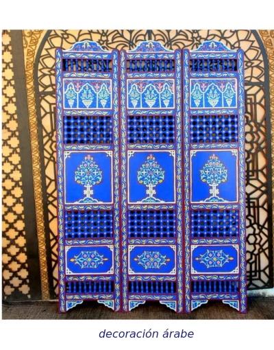 biombo marroquí madera pintada marroquí