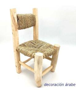 silla rústica pequeña