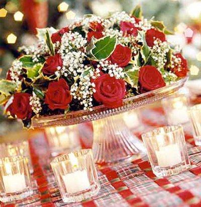 decoracin de navidad centros de mesa simples