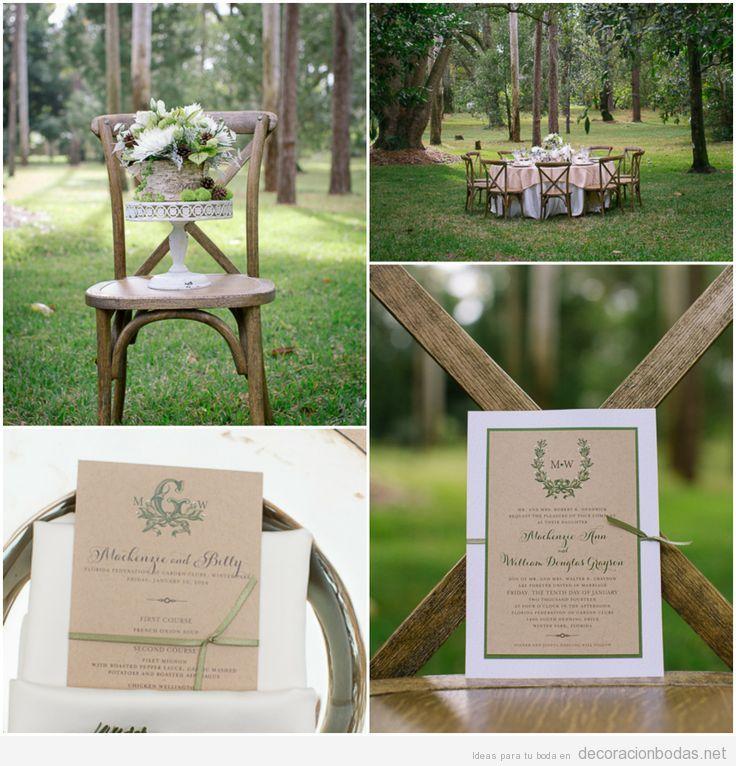decoracin de mesa de boda en el bosque estilo rsticochic