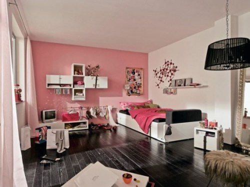 dormitorio-juvenil-rosa-negro