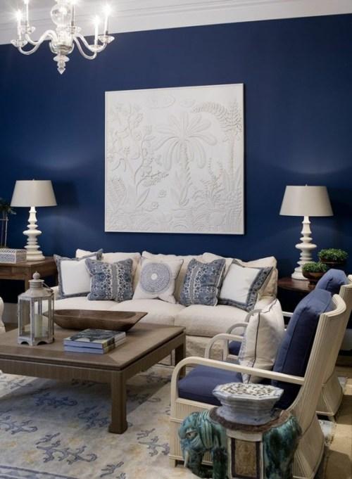 colores para pintar tu sala de estar 15 Refrescantes Diseos De Salas En Color Azul