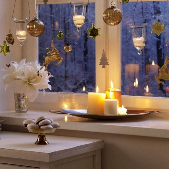 11 Magníficas Ideas para Decorar la Ventana en Navidad