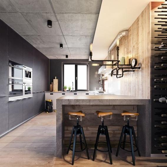 20 Diseños de Cocinas Estilo Industrial