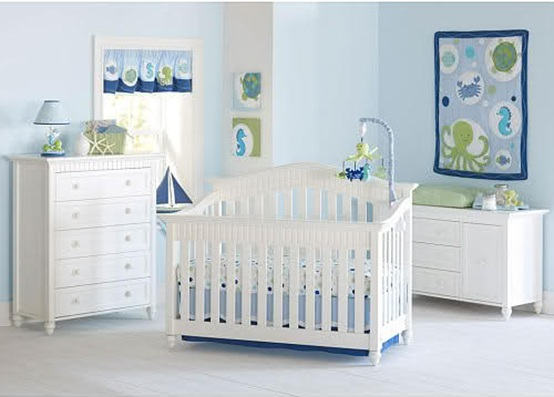 10 Encantadores Dormitorios para Bebés Color Celeste