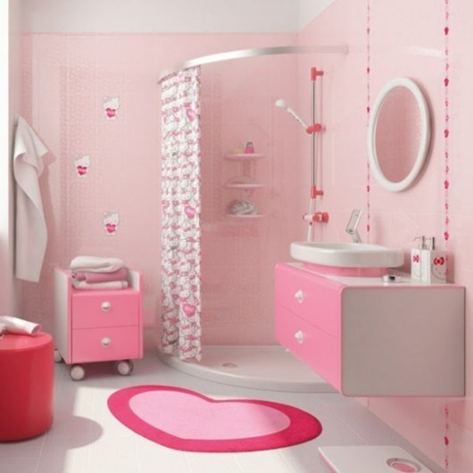 pink kid's bathroom
