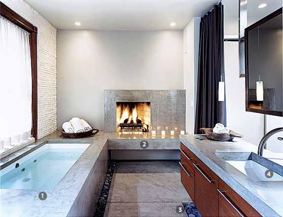 La iluminación en un baño