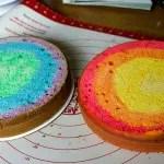 Torta Arcoiris O Rainbow Cake. Receta Y Prepacion Paso A Paso