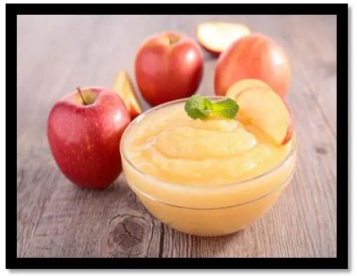 como preparar puré de manzana