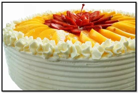 Torta De Melocoton y Fresas