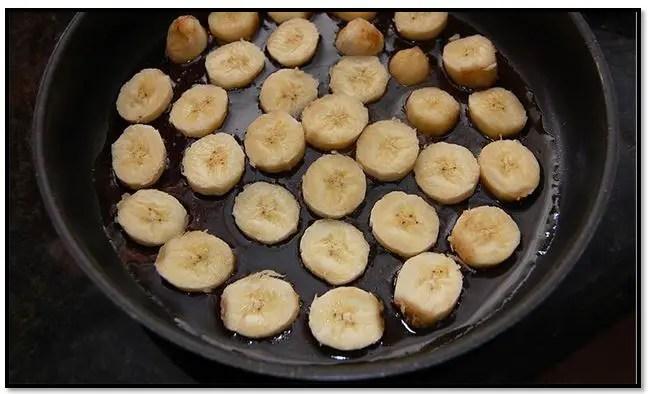 Como hacer torta invertida de banana