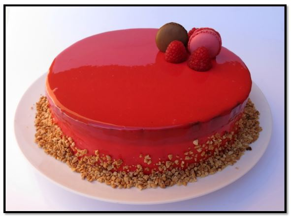 glaseado espejo para tortas