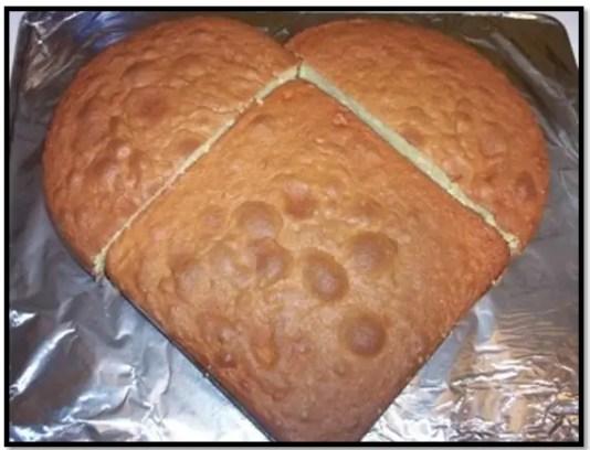 como hacer una torta de corazón sin molde