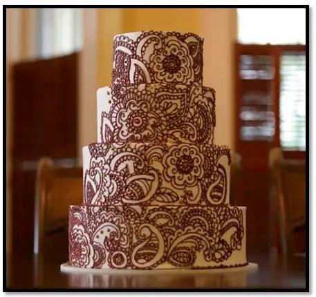 torta con decoración de mandalas