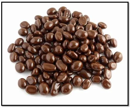 maní con chocolate