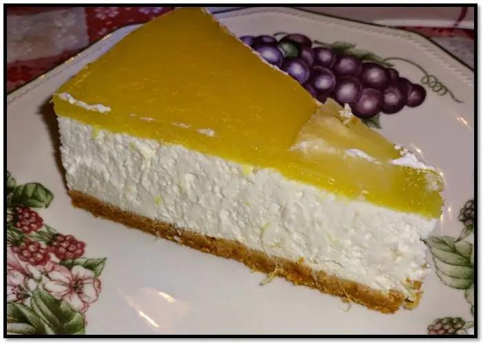 tarta de queso con piña