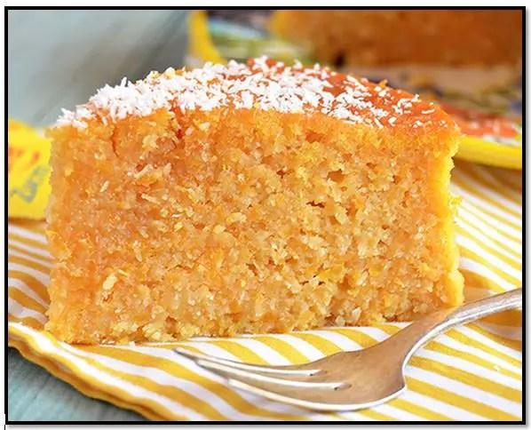 tarta de calabaza y coco