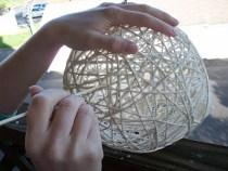 como hacer esferas con hilo