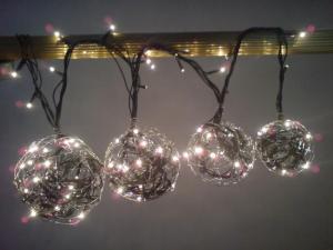 esferas de luz de navidad