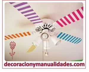 decora tu ventilador de techo