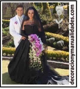 boda de negro de ivonne montero