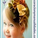 Flores de tela para el cabello
