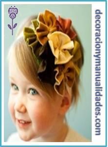 flores de tela para decorar tu cabello