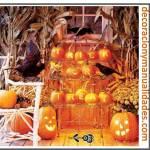 Decoraciones con calabazas de Halloween
