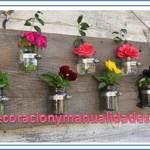 cuadro decorativo de flores  naturales