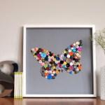Manualidad de cuadro de mariposa