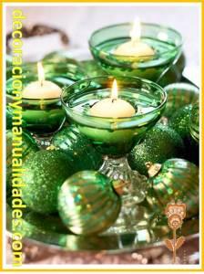velas flotantes navideñas