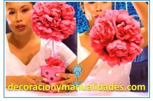 esferas de unicel deoradas florales decorativas