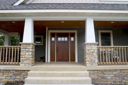 06 Beautiful Wooden and Stone Front Porch Ideas