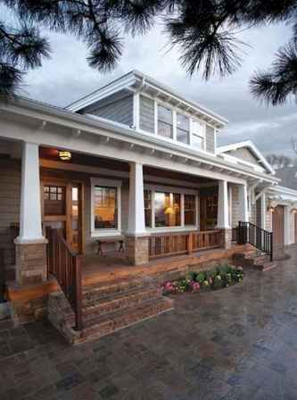 23 Beautiful Wooden and Stone Front Porch Ideas