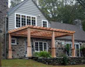25 Beautiful Wooden and Stone Front Porch Ideas