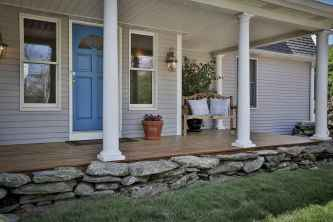 37 Beautiful Wooden and Stone Front Porch Ideas