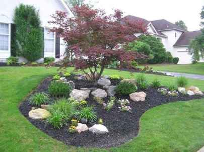 43 Gorgeous Front Yard Rock Garden Landscaping Ideas