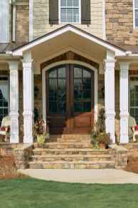 45 Beautiful Wooden and Stone Front Porch Ideas
