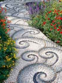 17 Magnificent DIY Mosaic Garden Path Decorations For Your Inspiration