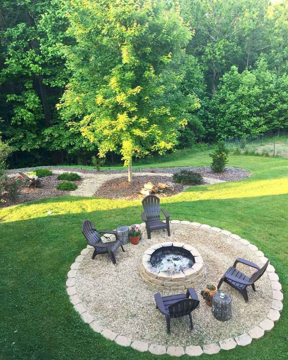 56 Awesome Backyard Fire Pits with Seating Ideas