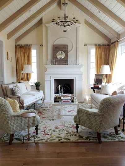 57 Incredible French Country Living Room Decor Ideas