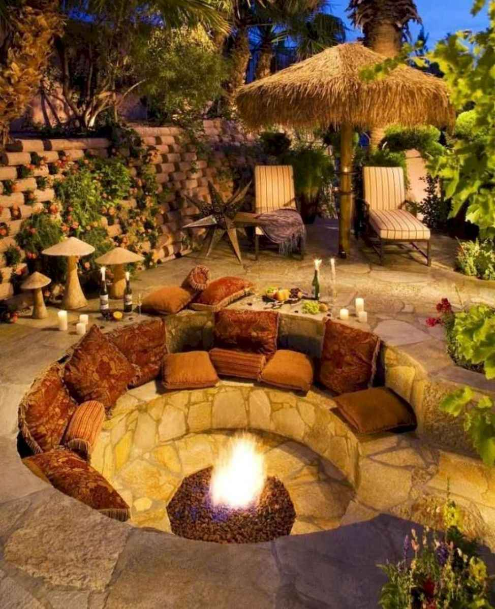65 Awesome Backyard Fire Pits with Seating Ideas