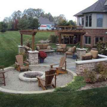 01 Easy Cheap Backyard Fire Pit Seating Area Design Ideas
